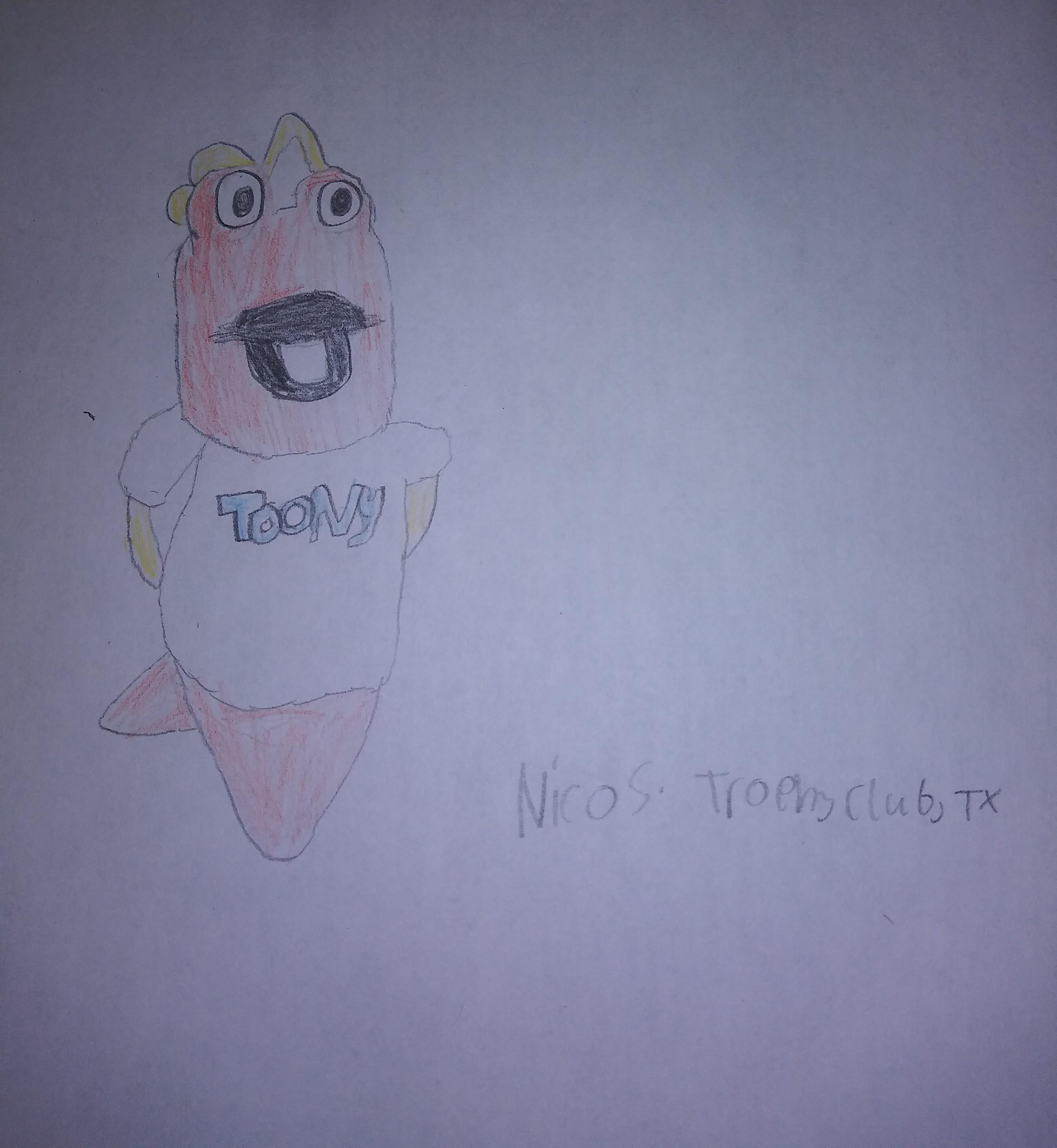 I enjoy cartooning, and i wanted to draw Toony. I like the cartoons.